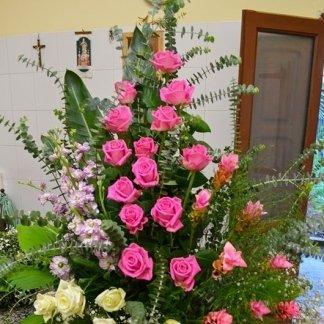 alzata di fiori
