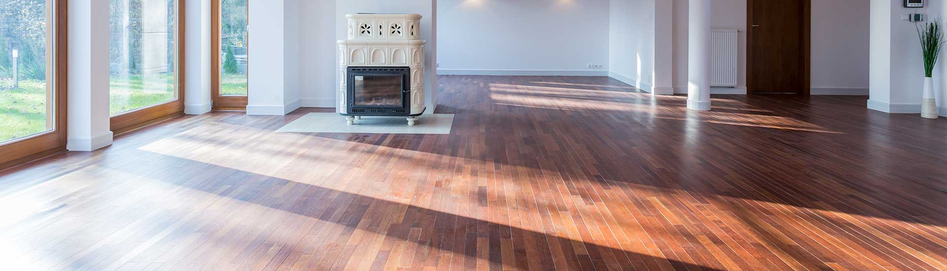 wood floors in sunlight
