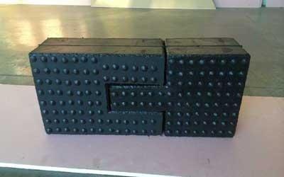 componenti industriali in gomma