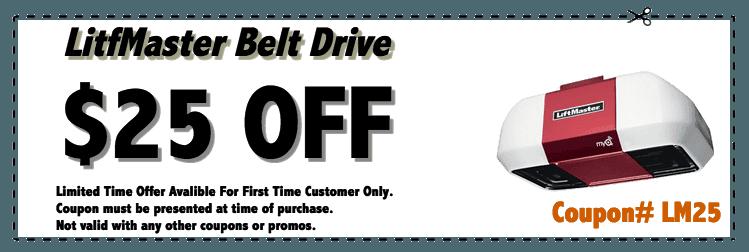 liftmaster garage door opener coupon