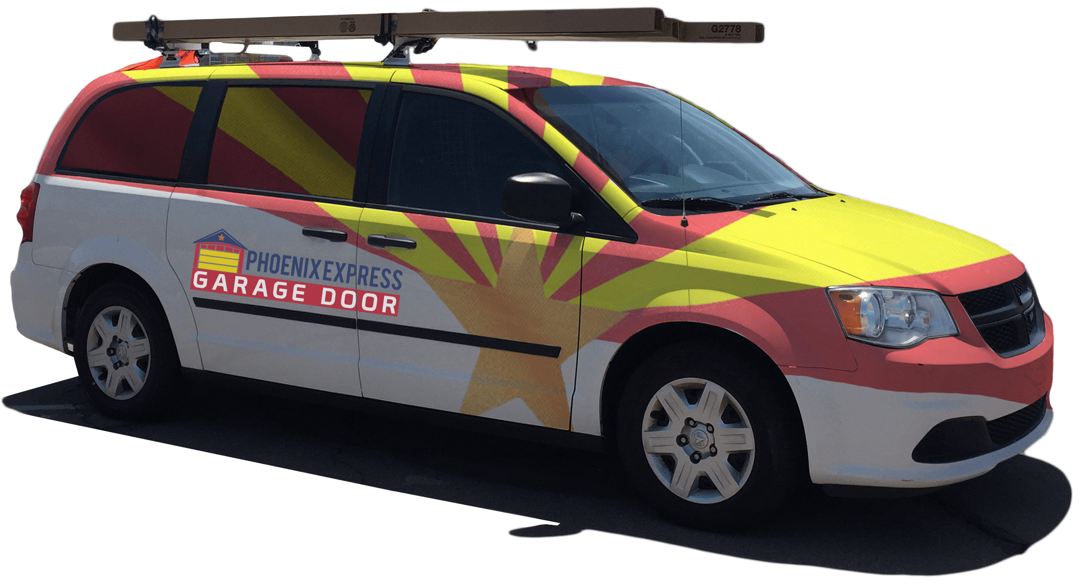 Garage door repair vehicle