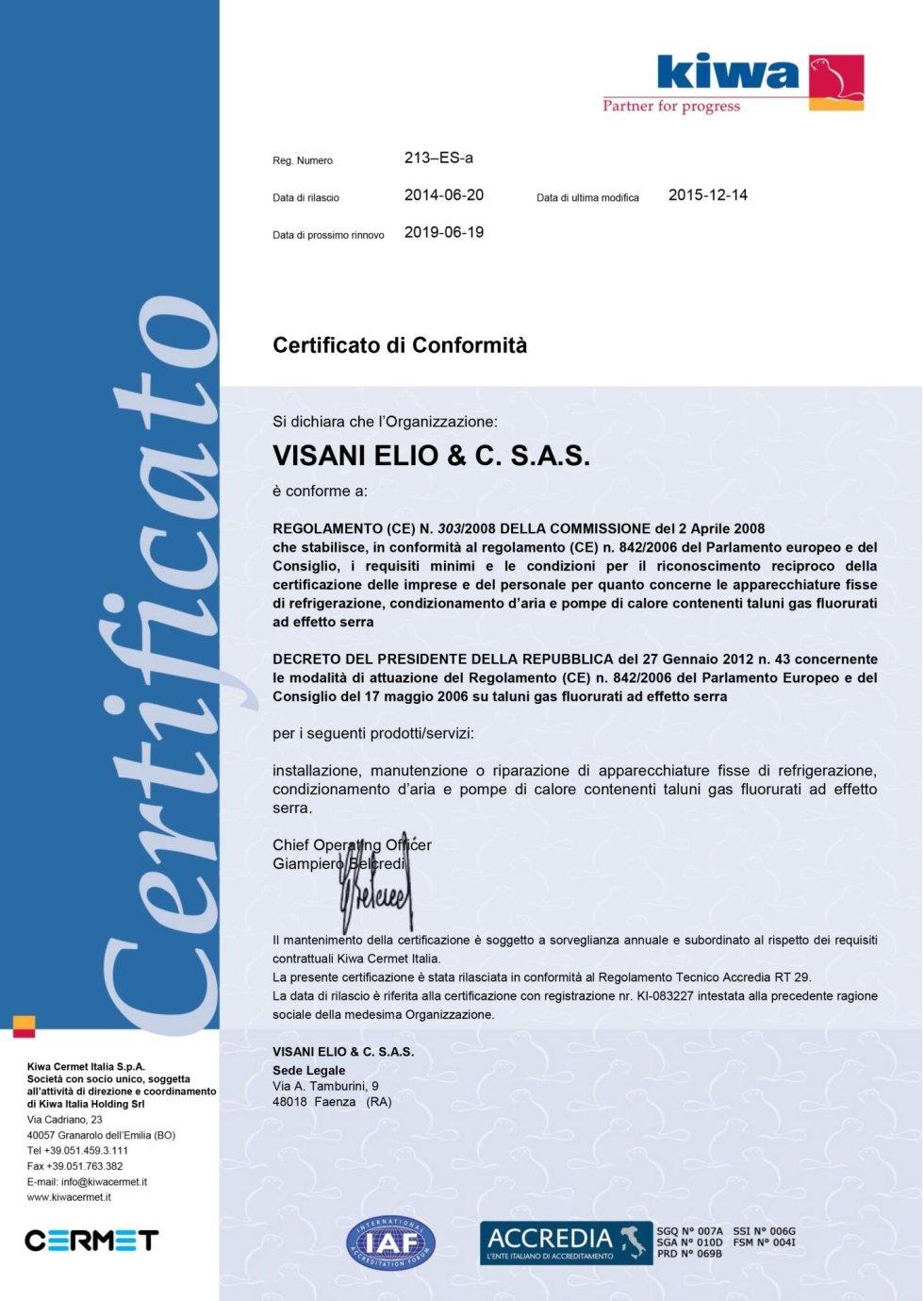 certificato 303