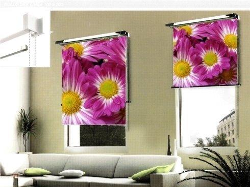 stampa su tenda fiori rosa