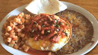 Best Huevos Rancheros at El Paso Cafe Mountain View CA