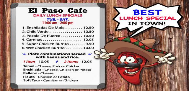 mexican food delivery near me, El Paso Cafe, 94040