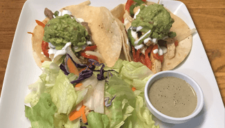 restaurants that deliver near me, fajita chicken tacos, el paso cafe, mountain view, 94040