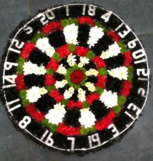 Dartboard Flowers
