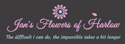 Jan's Flowers of Harlow logo