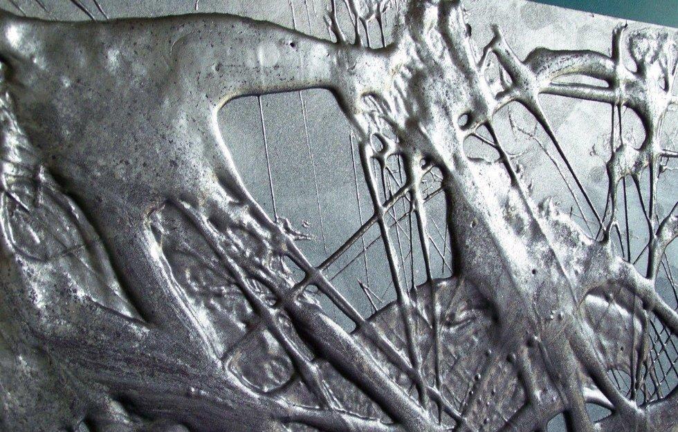 quadro con resina autolivellante