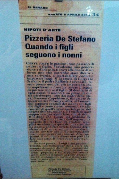 Anche i giornali parlano della nostra pizzeria, da quanto siamo bravi a preparare la pizza!