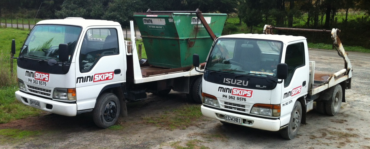 Rubbish removal trucks