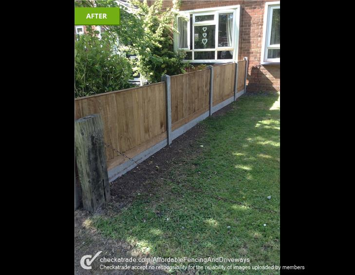 wooden fencing and grass