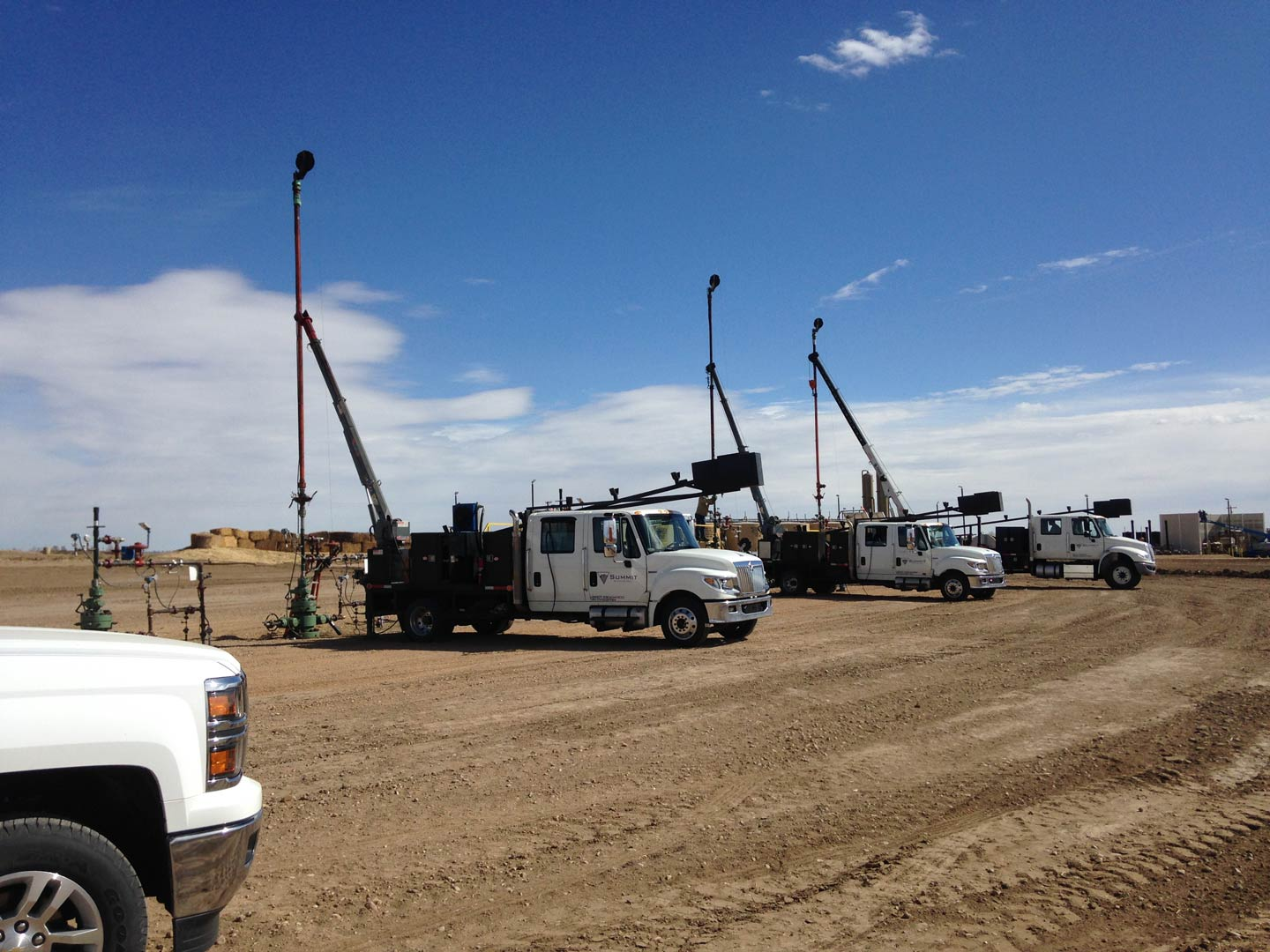 Trucks used for well services in Greeley, CO
