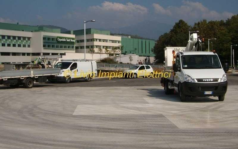 illuminazione parcheggio ospedale s anna como