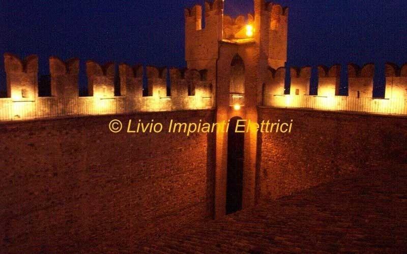 illuminazione artistica castello scaligero sirmione