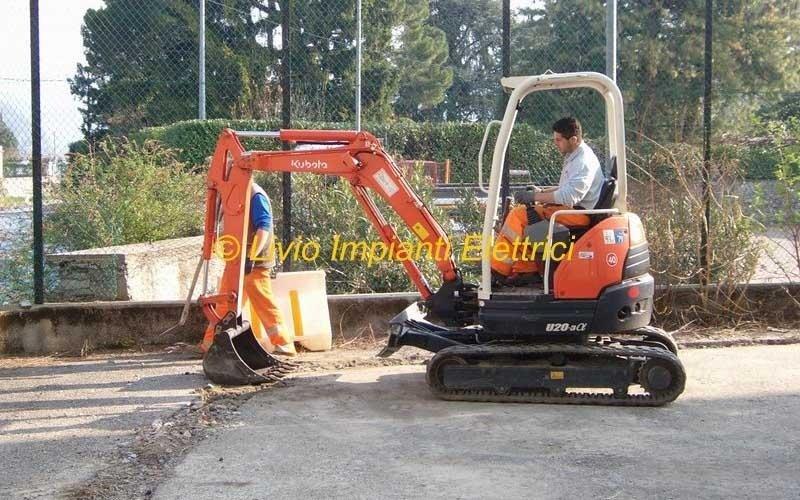 scavi per impianti illuminazione pubblica strada