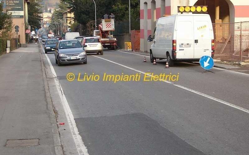 impianti illuminazione pubblica strada provinciale