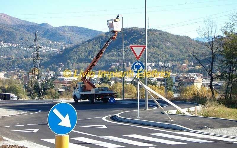 impianto illuminazione pubblica como