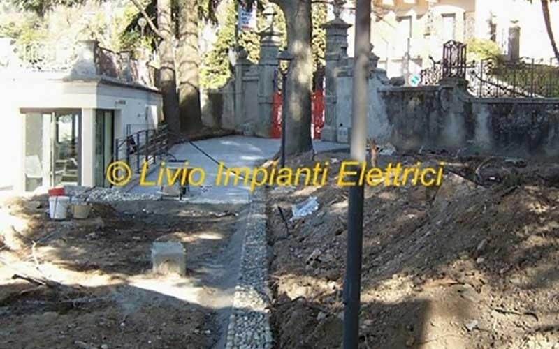 impianto illuminazione parco olivelli