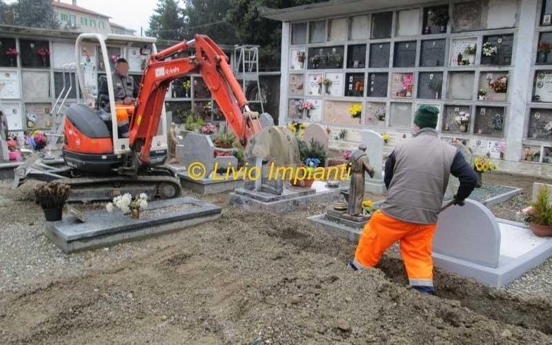 impianto scavo e manutenzione cimitero