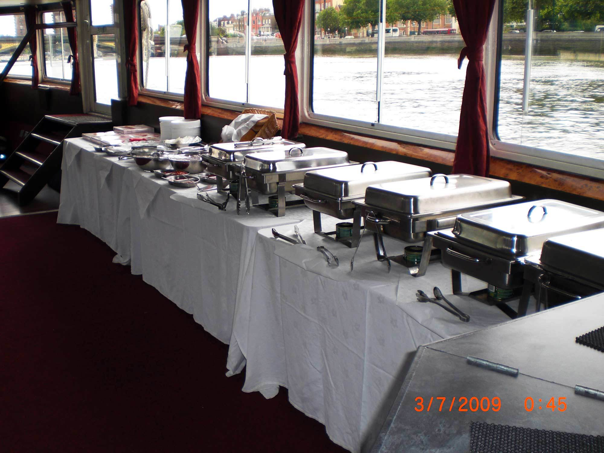 Party Boat Buffet Service