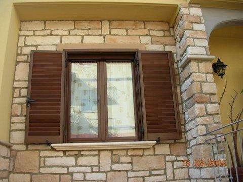 persiana e finestra in alluminio