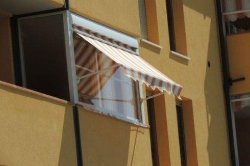 doppio telo estivo rigato invernale PVC trasparente