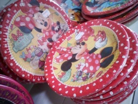 piatti, topolino e minni, piatti di carta per le feste