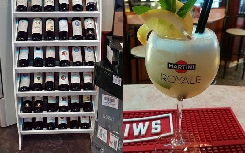 selezione vini e un cocktail
