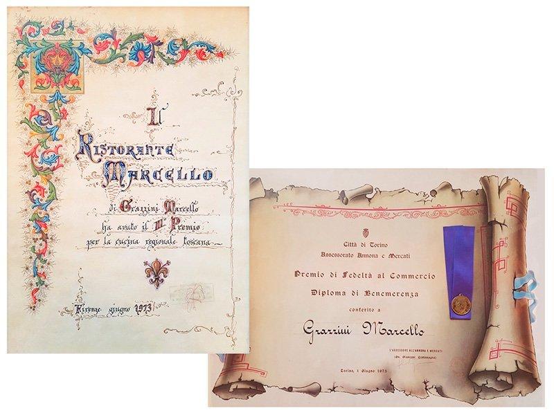 Premio di Fedeltà al Commercio per Marcello Grazzini