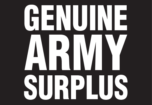 Army Surplus and Outdoors Supplies - Genuine Army Surplus