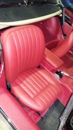 rivestimento di un auto completamente rosso