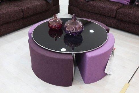 tavolino basso tondo
