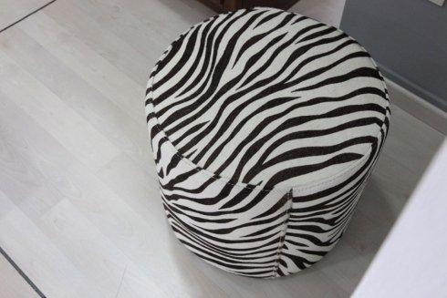 pouf zebrato