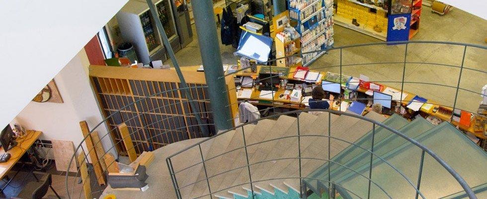 Vista dall'alto del magazzino della ditta