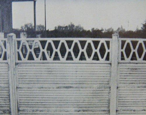 recinzione in cemento decorata