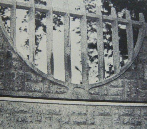 Ringhiera in cemento con finto steccato