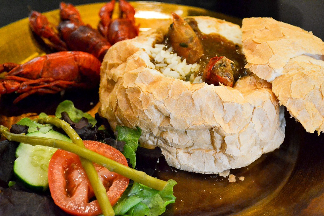 Beauregard Gallery and Bistro Crawfish Bisque Bread Bowl