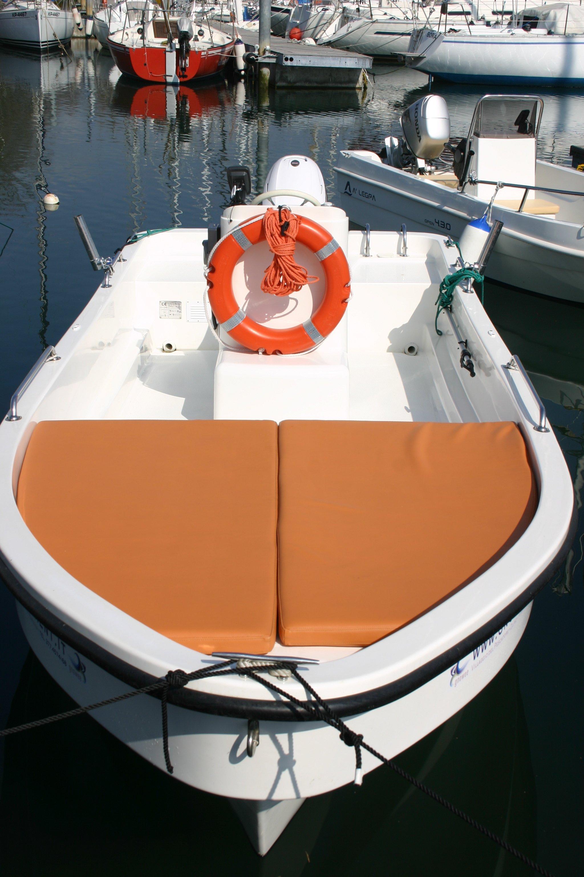 Vista dell'interno di una barca