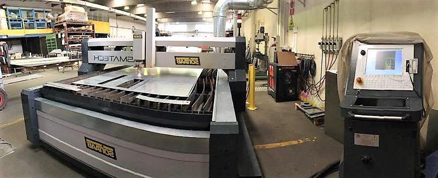 Panoramica macchinario per saldature al plasma