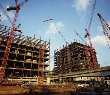 costruzione edifici, palazzi in costruzione, opere edili