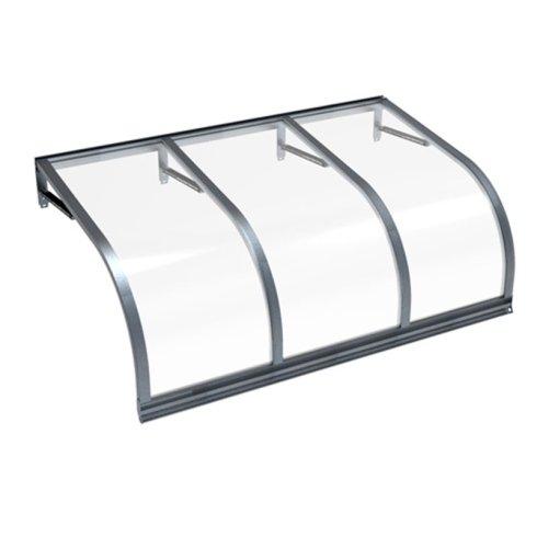 pensilina in plexiglass e alluminio