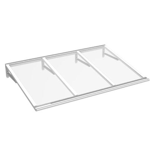 pensilina in plexiglass e alluminio dritta