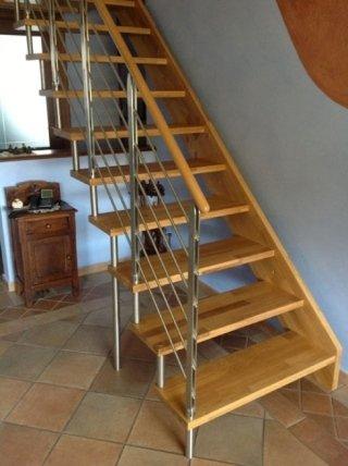 scala legno acciaio