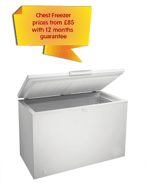 Chest Freezer prices from £85 with 12 months guarantee