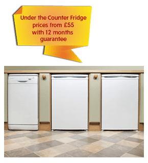 Under the Counter Fridge prices from £55 with 12 months guarantee