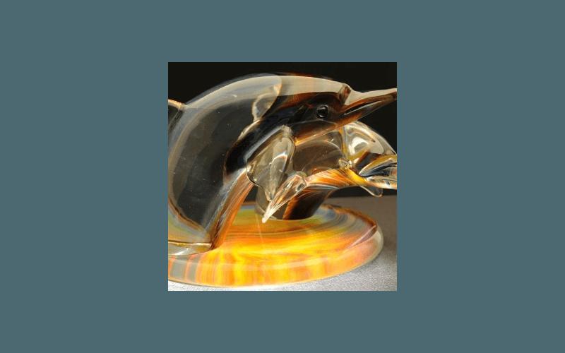 delfini in vetro soffiato