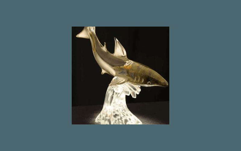 delfino in vetro soffiato
