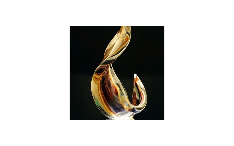 oggetti in vetro soffiato