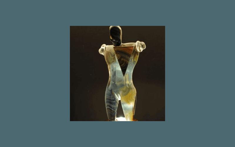 scultura in vetro soffiato